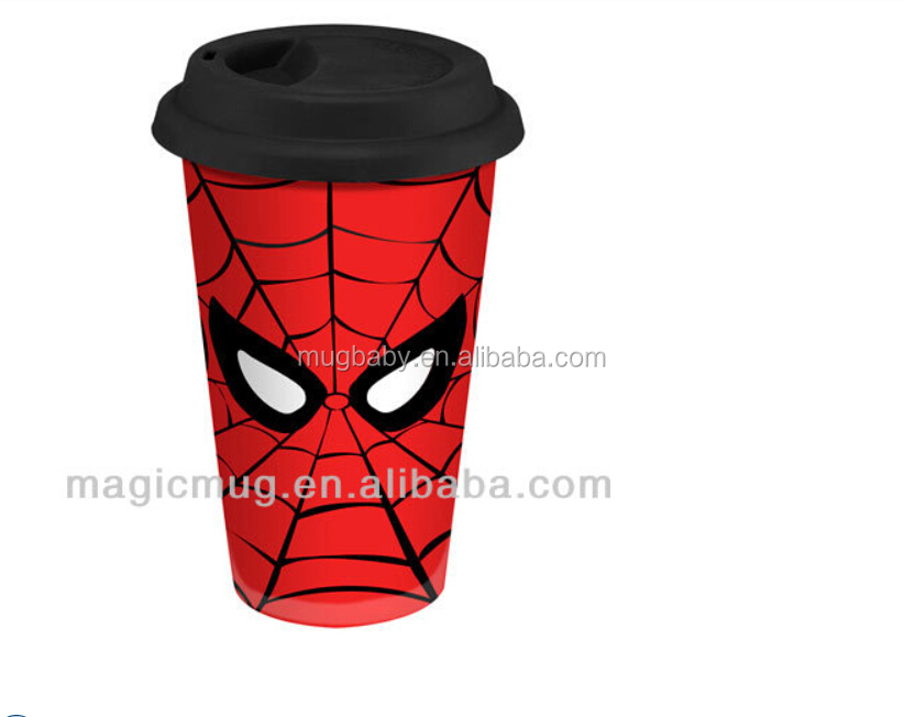Ceramic Coffee Tumbler With Silicone Lid