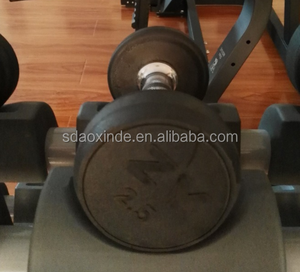 Promotional high quality gym&club use fitness equipment rubber coated dumbbell