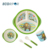 WELCOME ODM colorful Bamboo Fibre Dinner Set Bamboo Kids Plate Set