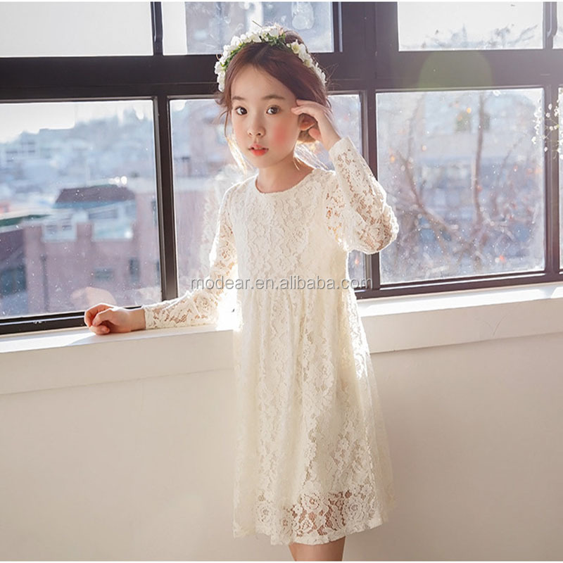 Baby girls clothes princess party  white tulle lace  flower  baby girl dresses
