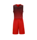 100% polyester Black red jersey basketball uniform