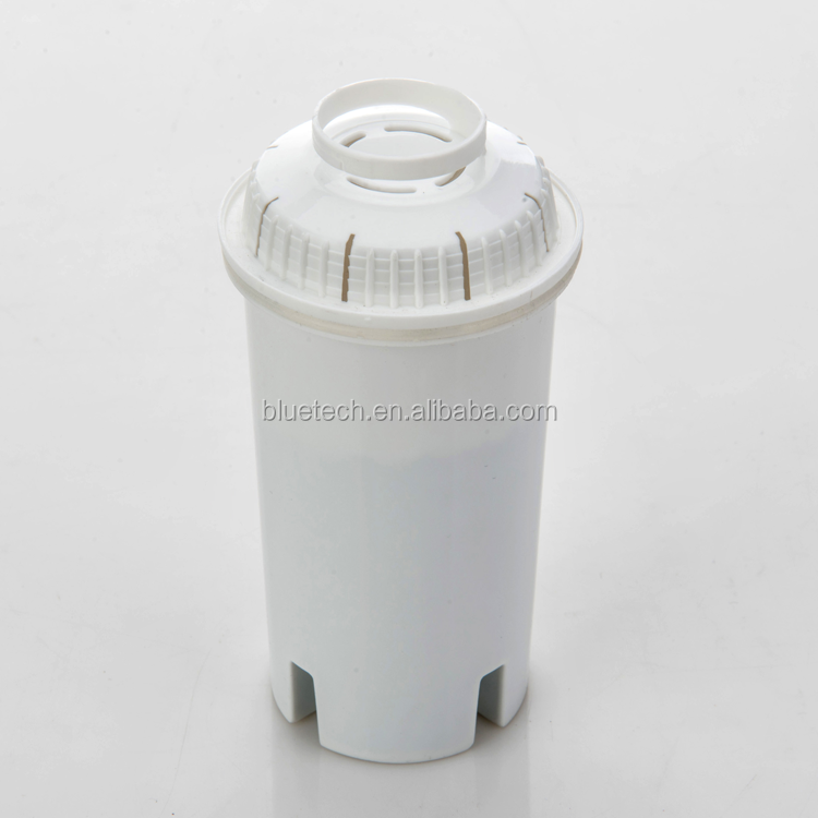 2.4L countertop alkaline water pitcher/jug with activated carbon filter cartridge