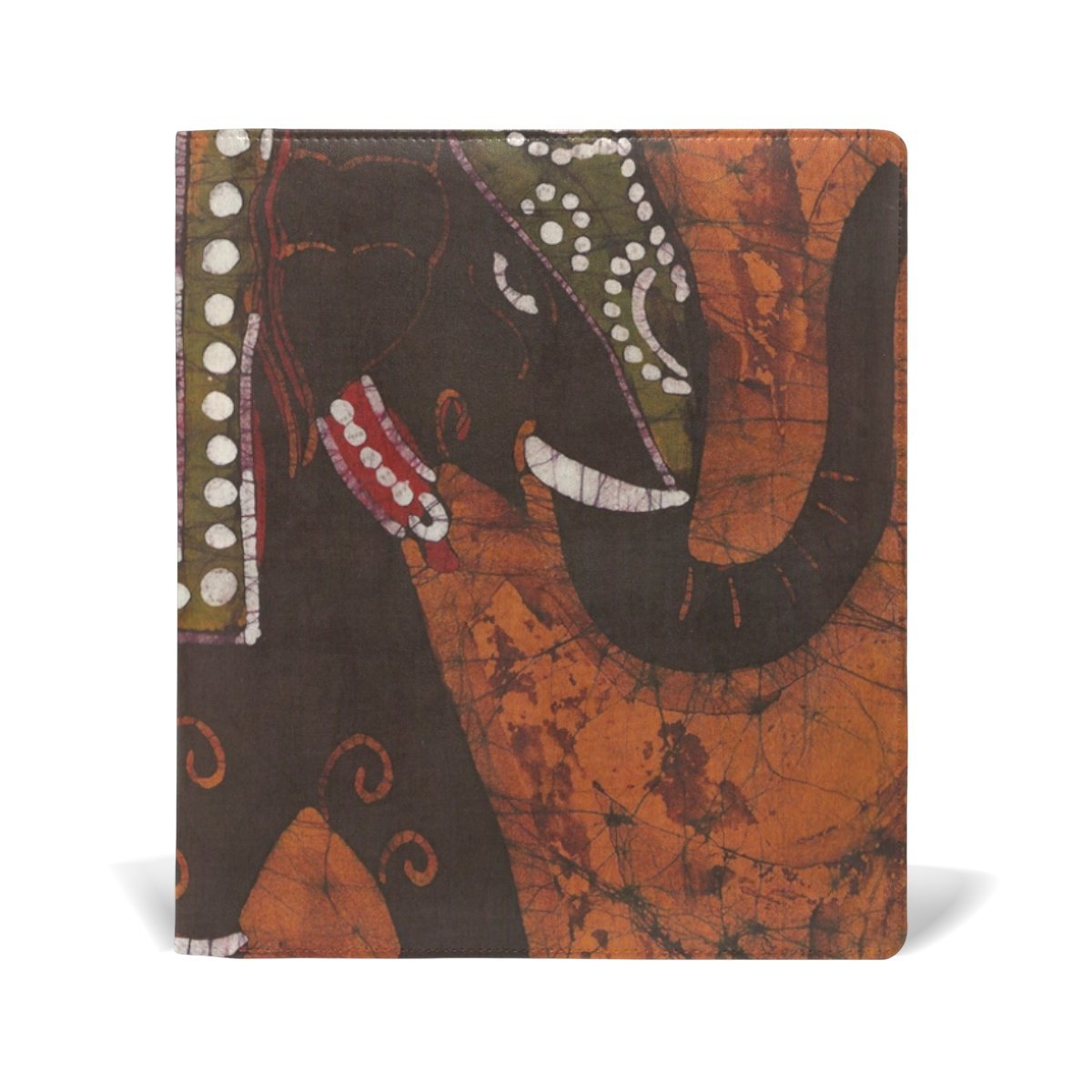 Sunlome Indian Decorated Elephant Pattern Stretchable PU Leather Book Cover 9 x 11 Inches Fits for School Hardcover Textbooks