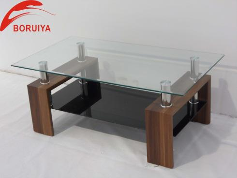 Modern cheap collapsible glass coffee table