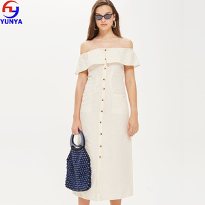 37055402b34 China Short Cream Dress