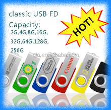 Wholesale 2.0/3.0 2GB/4GB/8GB swivel USB Flash Drive Pen drive Free Sample