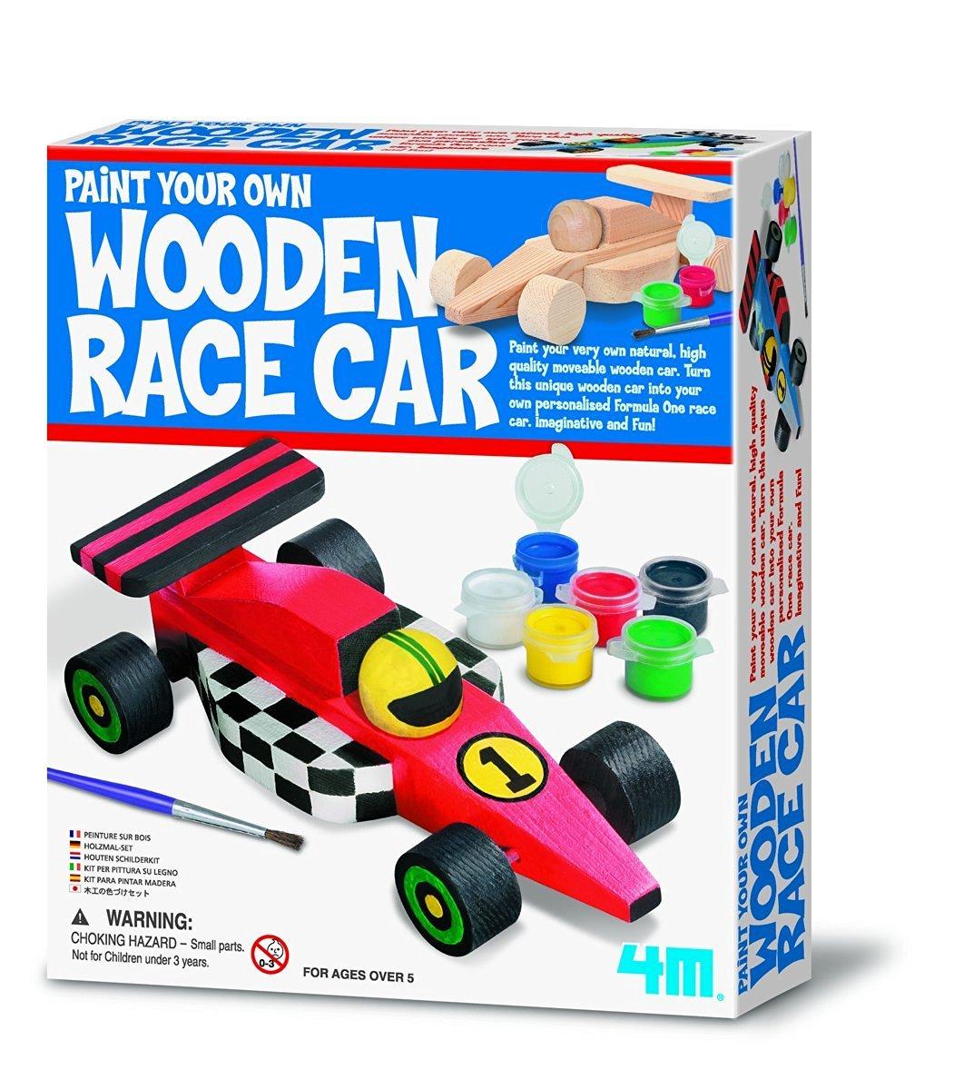 4M Paint Your Own Wooden Race Car Kit