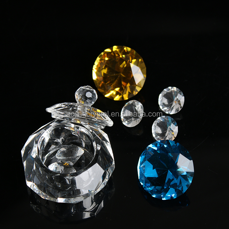 High Quality Elegant Hand Cut Jewel Trinket Box Butterfly Favor Cheap Crystal Candle Holder Wedding Favors