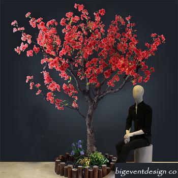 Newest Wedding Centerpiece Red Cherry Blossom Tree Indoor Artificial