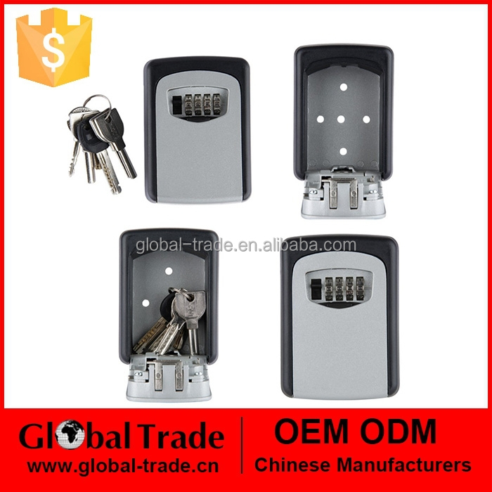 Digit Wall Mount Key Storage Box Combination Lock Zinc Alloy With Fixing Screws 5 Keys Security Organizer Boxes 450137