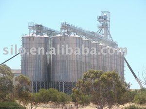 grain storage steel silos with cone/hopper bottom used for flour mill