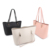 customized logo new fashion high capacity shoulder pu faux leather tote bag for women