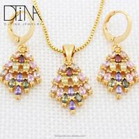 Dtina fashion brand women zircon jewelry set