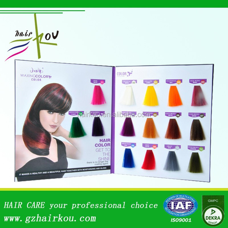 Semi-permanent Hypershine Color Gloss Hair Swatch Book Chart - Buy ...