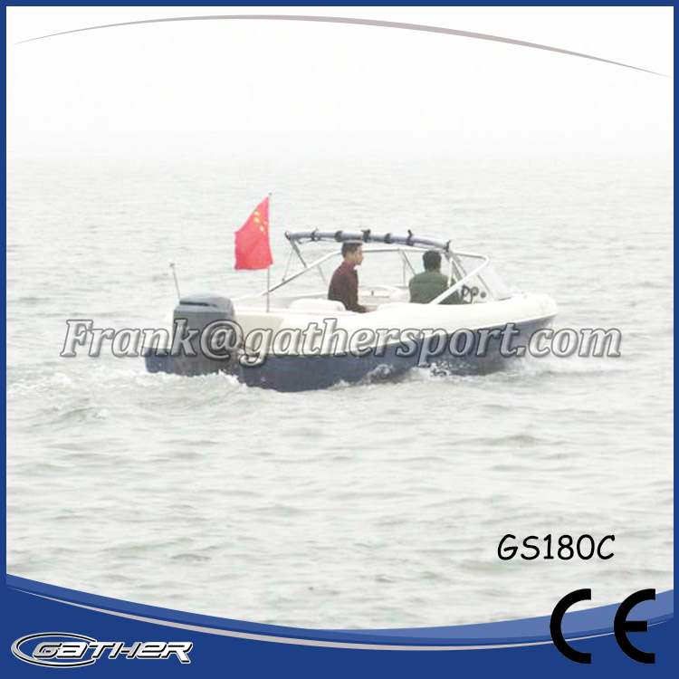 Gather Hot selling Chinese CE certificate sport fiberglass boats and yacht