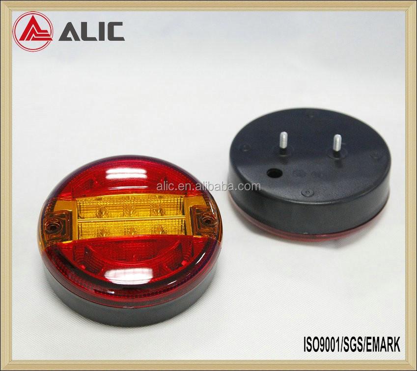 2 PCS LED Lumi/ère Arri/ère Queue Feu De Frein Stop Lumi/ère Clignotant Num/éro Plaque Lampe Pour Remorque Camion V/éhicule R/écr/éatif Couleur: Rouge + Ambre + Noir