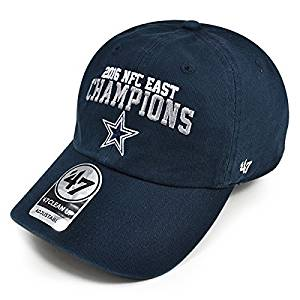 b619b7817a36c Get Quotations · Dallas Cowboys 2016 NFL Official NFC EAST CHAMPIONS Clean  Up Adjustable Hat