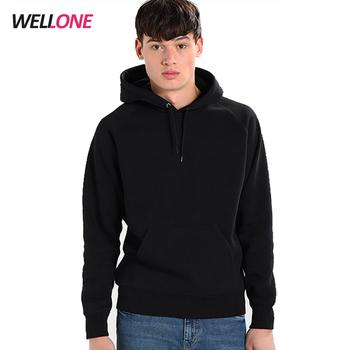 faafc47910 Hot sale cheap 100% combed fleece cotton custom printing design blank men  plain black hoodie