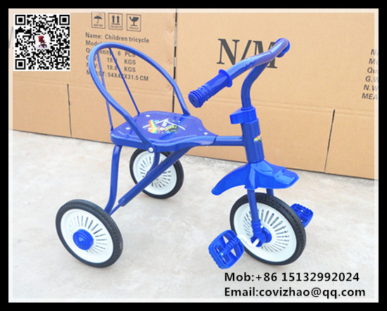 cheap old model steel kids tricycle