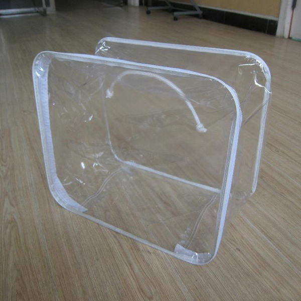 Clear Pvc Plastic Zipper Bags For Pillow Quilt Blanket