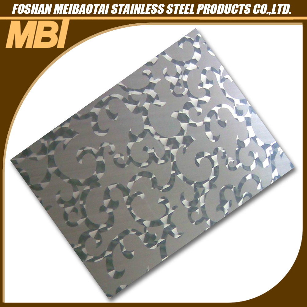 304 1mm laser cutting stainless steel sheet for decoration