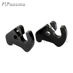 Pazoma Black Aluminum Detachable Accessories Motorcycle Left & Right Rotary Latches