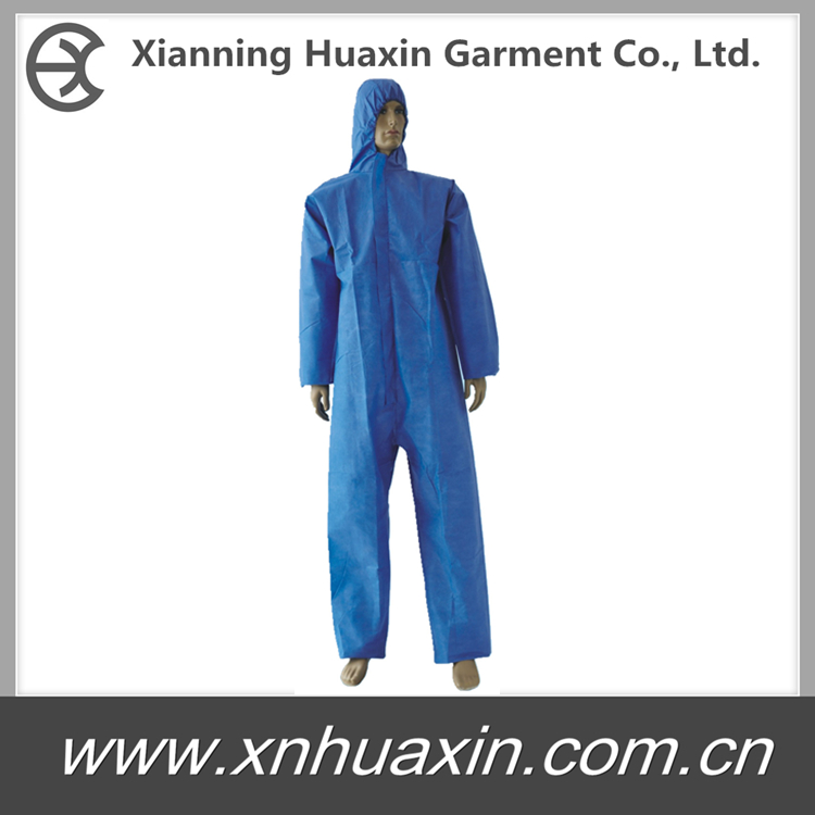 Coveralls with hood and boots
