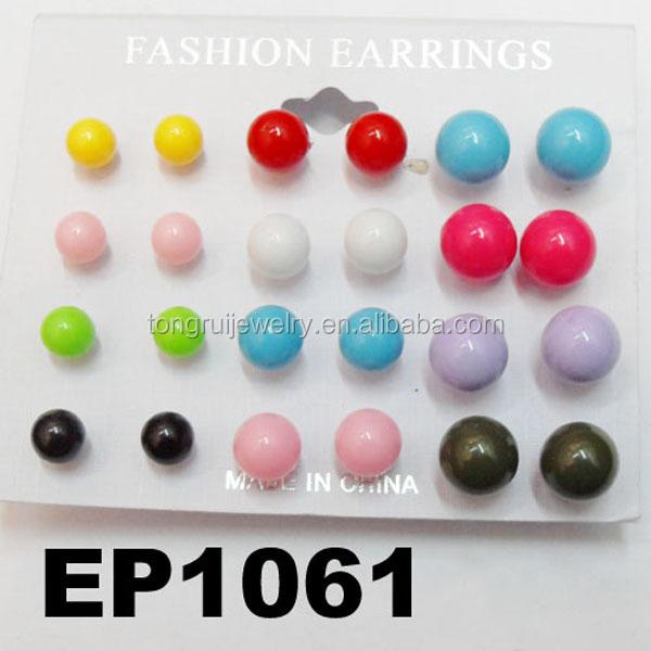 Make Your Own Plastic Ball Stud Earrings