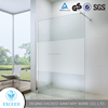 low tray white aluminum alloy shower enclosure back panel