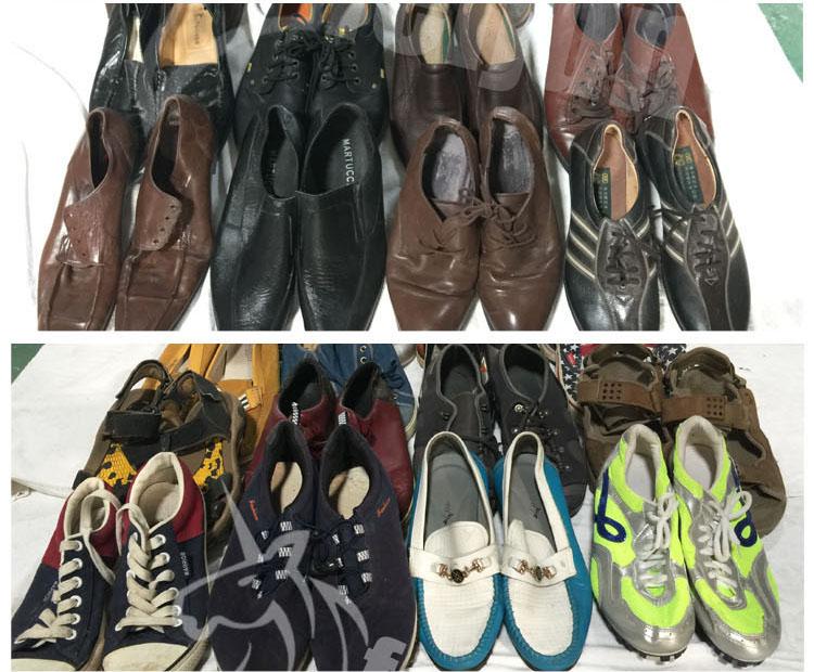 ด้านบนใช้รองเท้าผู้ผลิตคุณภาพสูงวินาทีมือรองเท้าขายร้อน bales ส่งออกแอฟริกา