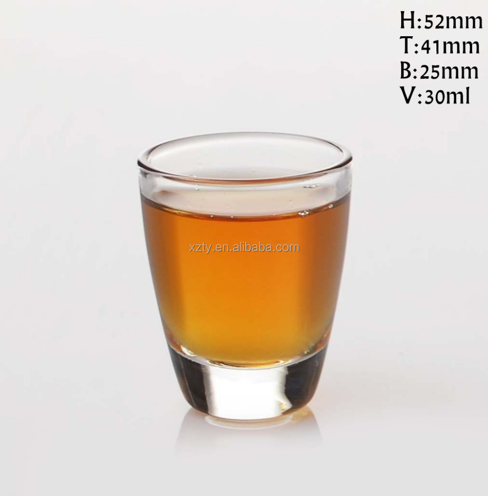 30ml 1 oz bullet shape shot glass