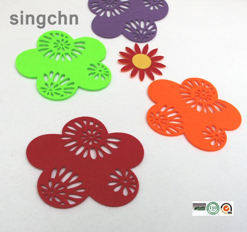 Newest promotional felt cup mat felt