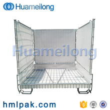 China foldable wire mesh cage container for PET preform
