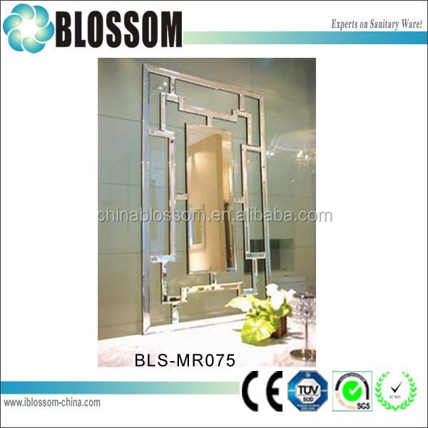 rectangular moderna sala de arte espejo de pared