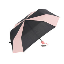 Stylish Pink Black Square Folding Rain Sun Umbrella