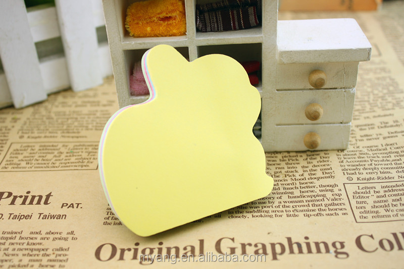 Wholesale Various Kinds Of Desgin And Customized Color Note Padsoem Cake Shape Memo Pad