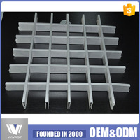 MOQ=100 square meters attractive open grid suspended ceiling tile grate aluminum ceiling tile
