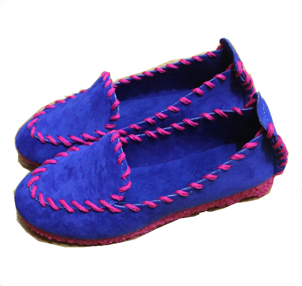 Breathable Women Flats 2015 3 Colors Slip-On Loafers Round Toe Cozy Ladies Flat Shoes PU Leather Breathable Women Flats
