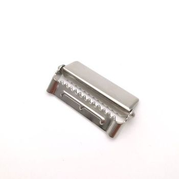 1.5 Inch Wide Silver Suspender Garment Metal Clips