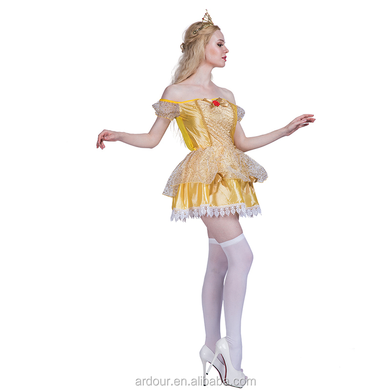 Carnival Party Movie Cosplay Party Fancy Dress Adult Princess Belle