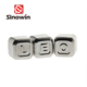 Size 2.6x2.6cm Stainless Steel Reusable Alphabet Letters non melting ice cubes