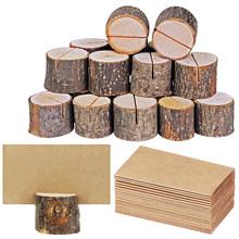 Деревянная ворсовая карточка с именем и местом, держатель для фотографий, деревянная лака, держатель для записей, форма для выпечки, «пень», ...(Китай)