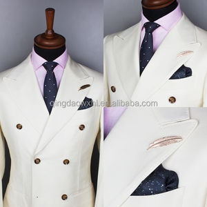 2017 new arrived the great gatsby style designer photo custom coat pants double breasted wedding dress white men suit