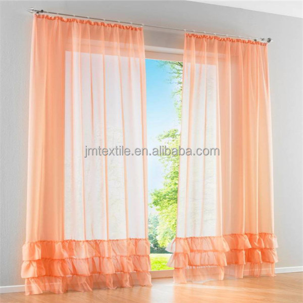 Transparent Red Pleated Sheer Curtain Fabric,Ployester Fabric For ...