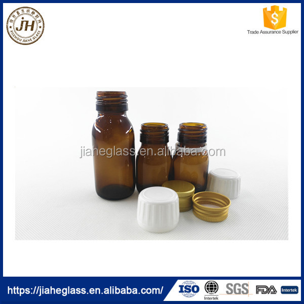 30ml 60ml oral liquid glass vial cough syrup bottles for Pharmaceutical Industry Use