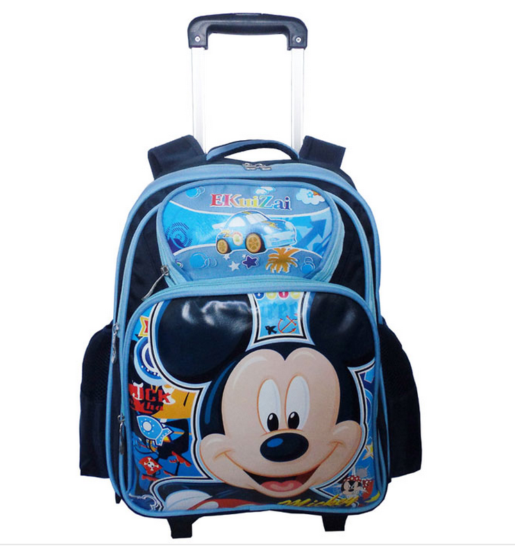 China Supplier Trendy Kids Mickey Mouse Trolley Bags