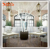 2017 Factory hot sale artificial plastic dry tree for decoration with white decorative dry tree branches