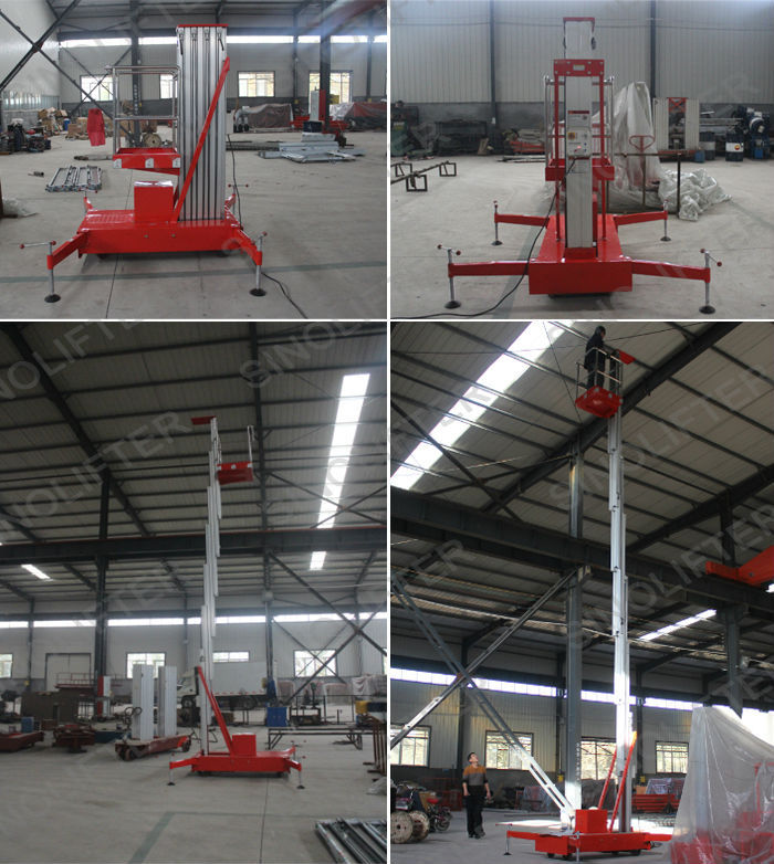 Mobile Push Around Personal Lift Vertical Mast Lift Manual