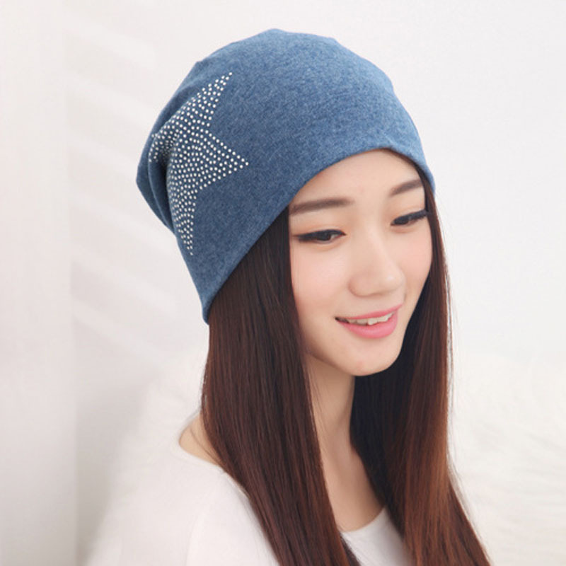2015 Autumn Fashion New Knit Baggy Beanie Hat with Star ...