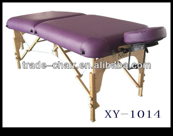 2 section en cuir sooden portable lit de massage